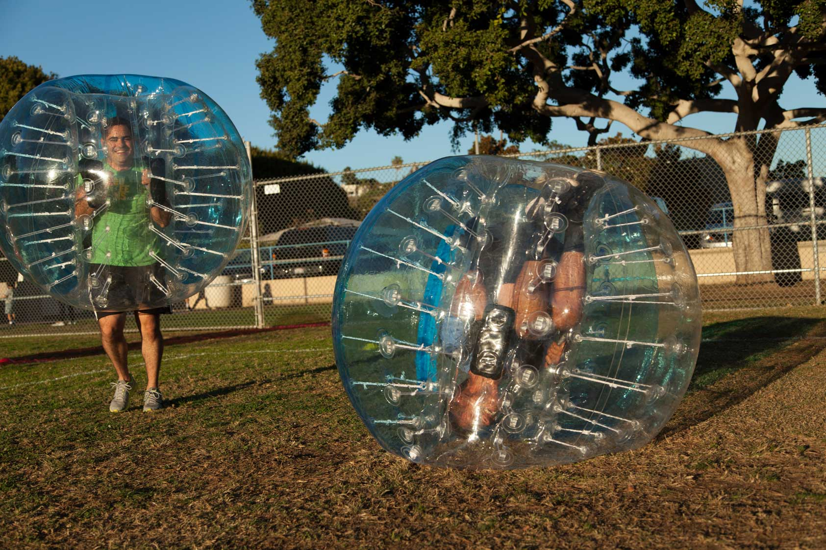 Upside down bubble rolling