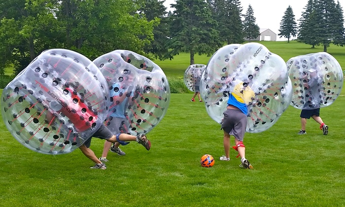 Rain or shine, bubble soccer is amazing!