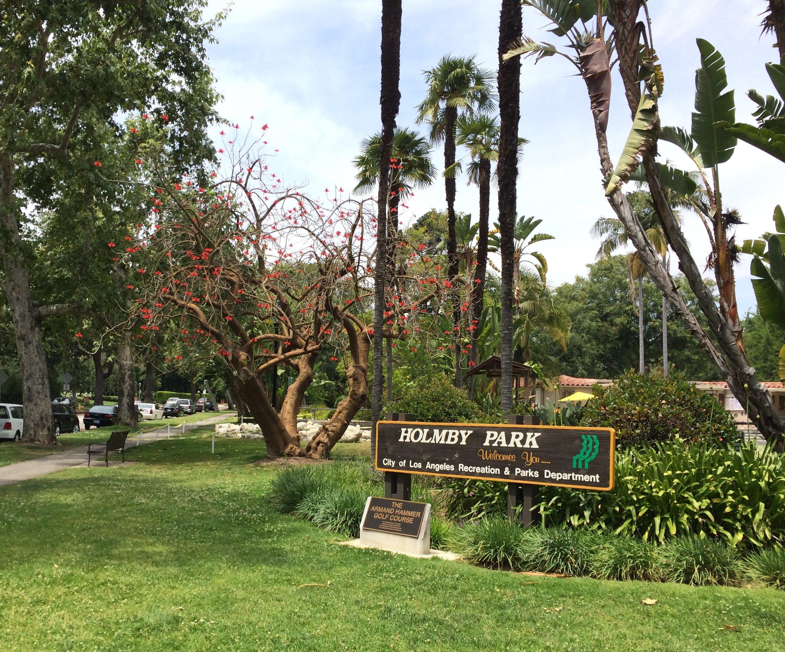 Holmby Park Sign