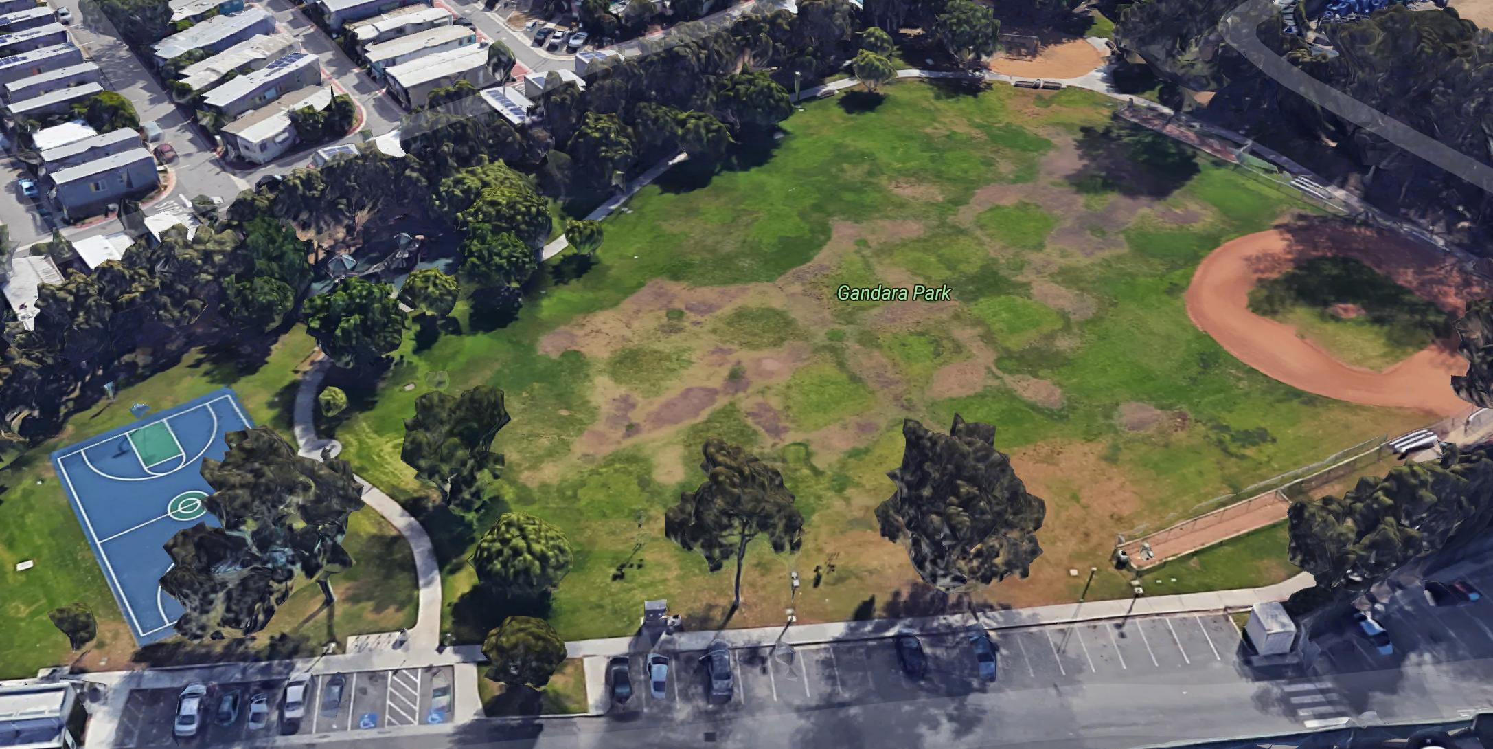 Gandara Park, Santa Monica birds eye view
