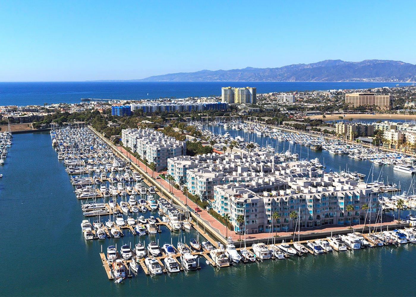 Marina Del Rey harbors great for bubble soccer