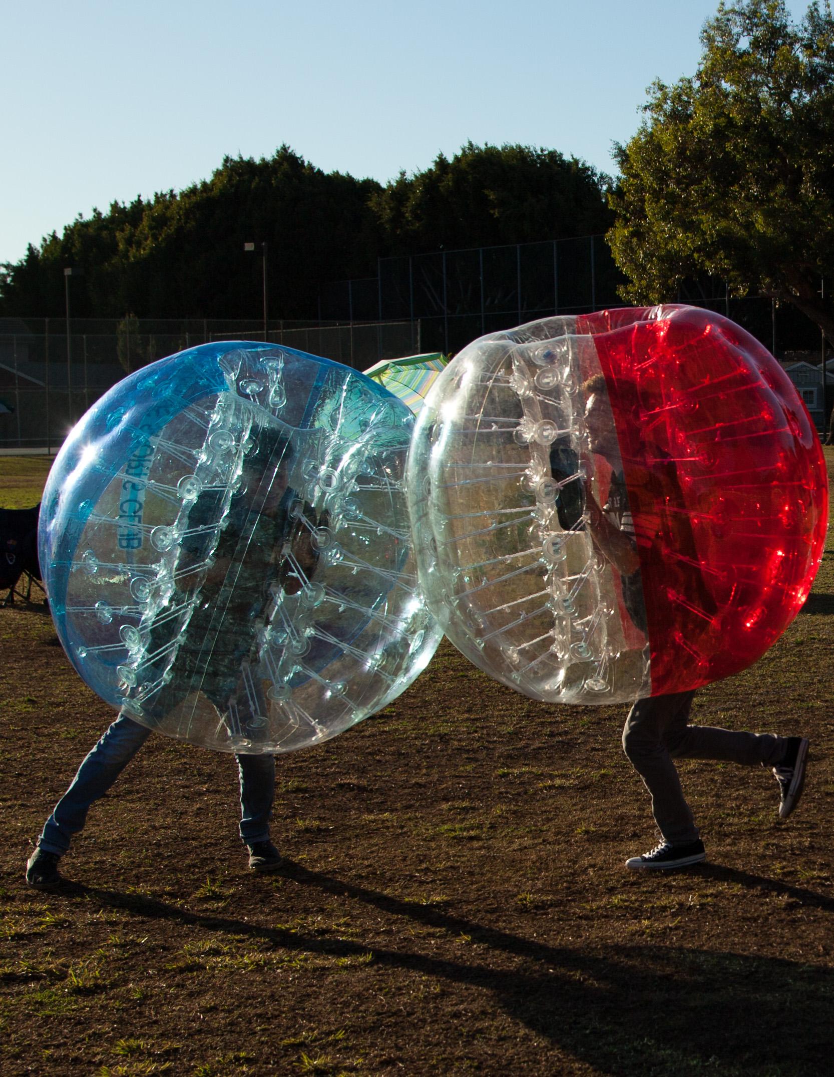Book Bubble Soccer Rental Manhattan Beach standoff
