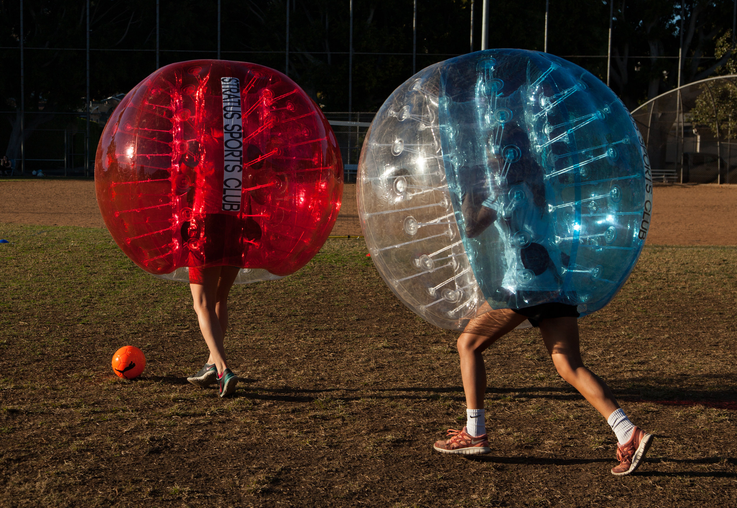 Chase down bubble soccer party Northridge