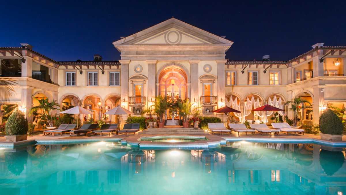 Beverly Hills Mansions are perfect for Bubble Soccer