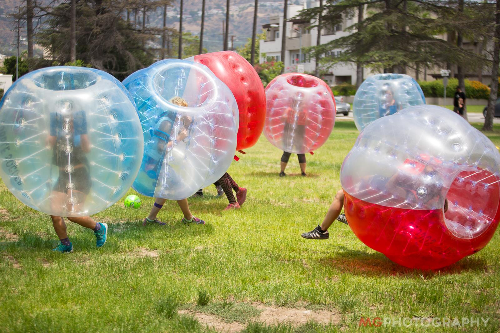 knockerball rental at a park in los angeles soccer