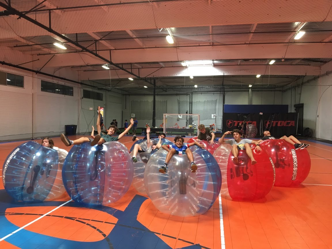 Bubble soccer is fun indoors as well. A beginner's guide to bubble soccer