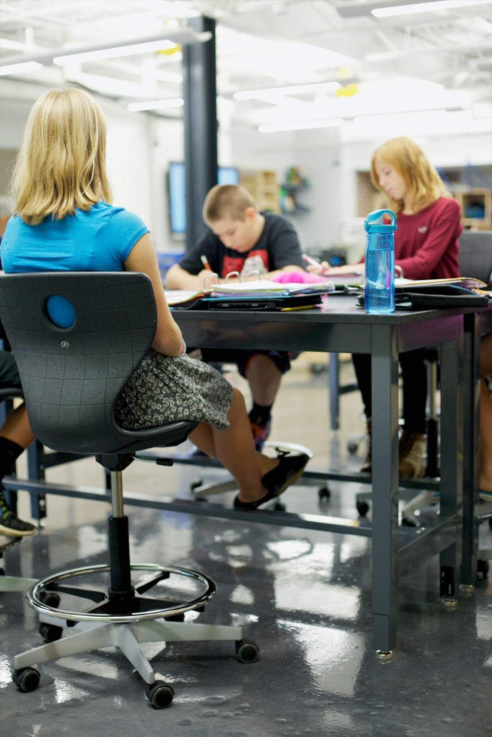 Ergonomic seating invites continual micro-movements that stimulate brain activity and can increase student focus.
