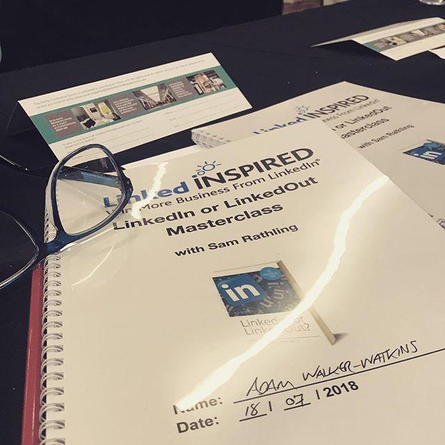 Great day of training on #LinkedInorLinkedOut from @samrathling #LinkedInExpert #UltimateLinkedInMasterclass