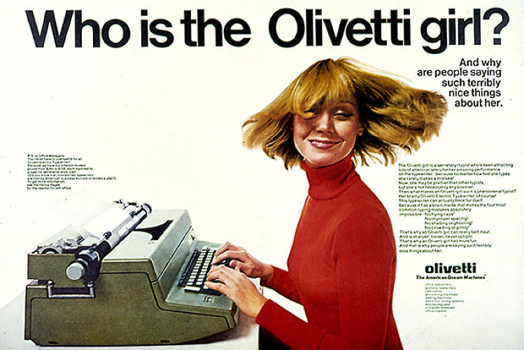 Print Ad by George Lois for Olivetti, mid-1960s