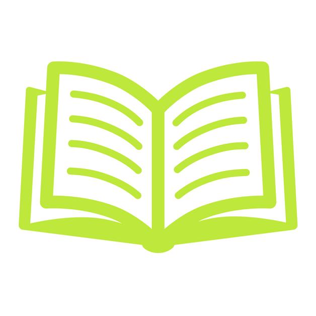 Tiny green book icon