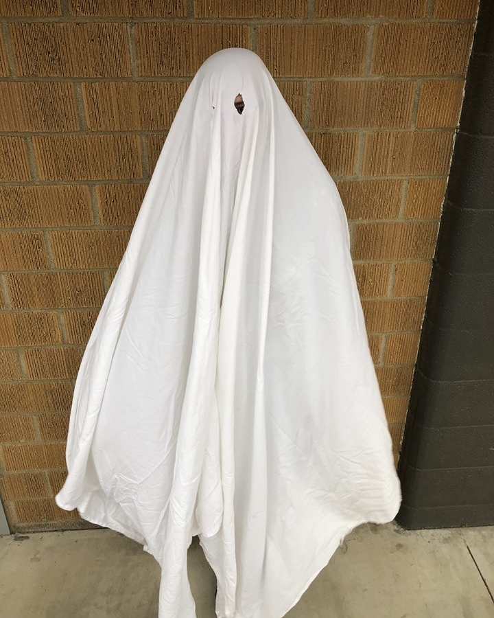Account Services Director Joan as a classic sheet ghost