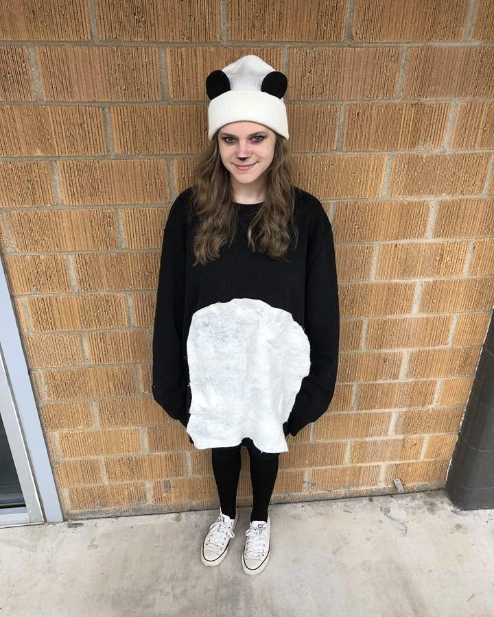 Copywriter Faith in her panda bear costume