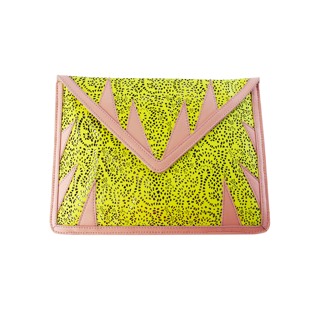 A-MORIR NUDE AND YELLOW IPAD CLUTCH.jpg