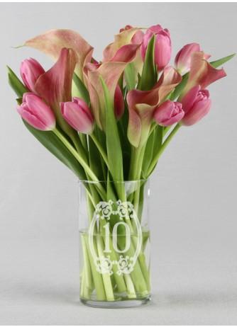 Vase w/ table number