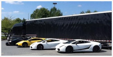 SPLP's enclosed sports car delivery