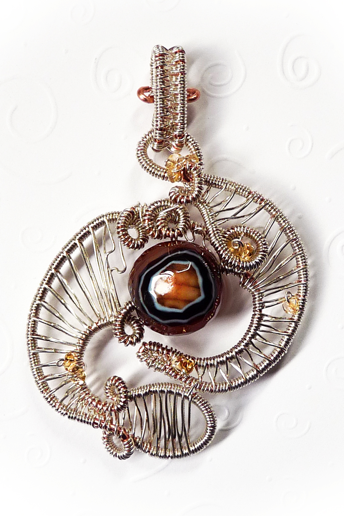 Agate Bead Weave by Rhonda Chase