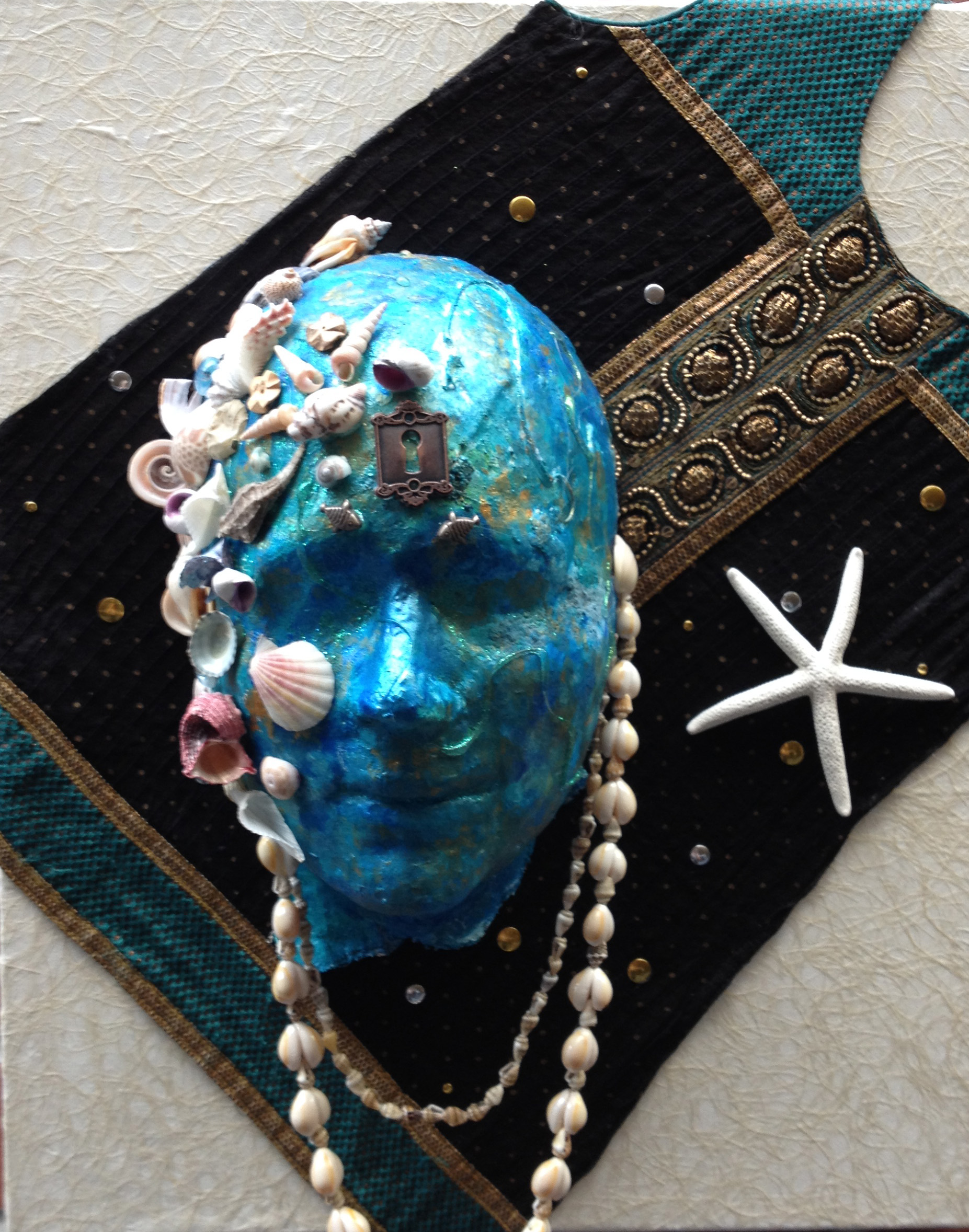 Blue Water Mermaid by Carol Faber Peake
