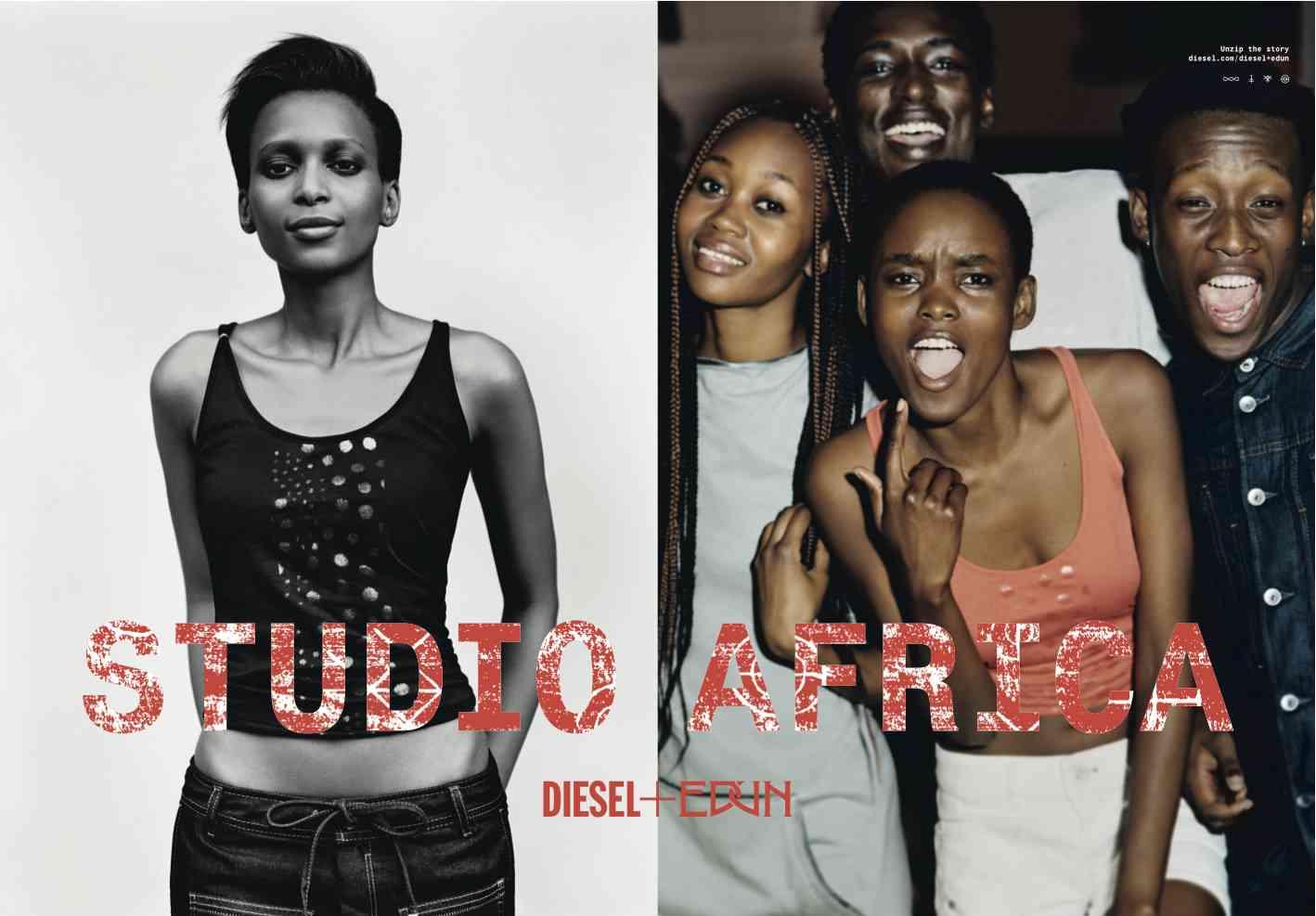 Diesel + Edun SS13 Studio Africa shot by Alasdair Mclellan