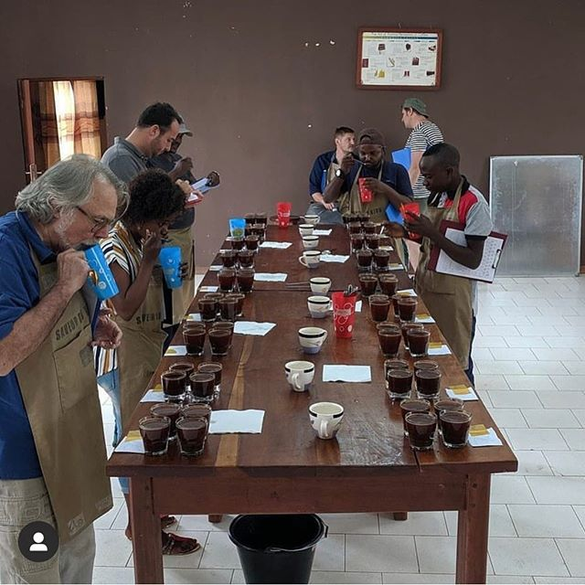 Meanwhile the 4th annual international coffee competition @saveurdukivu in Bukavu, DRC is taking place this week! Sadly we weren't able to fly over but our coop #Muungano is included in the tastings. 💪🏽💪🏿🇨🇩Wishing everyone an inspiring week! #thereinspirit . #kivucoffee #singleorigin #dRC #coffee #volcanicsoil #lackivu #kivuregion #bukavu #muungano #savuerdukivu #worktogether #rdc