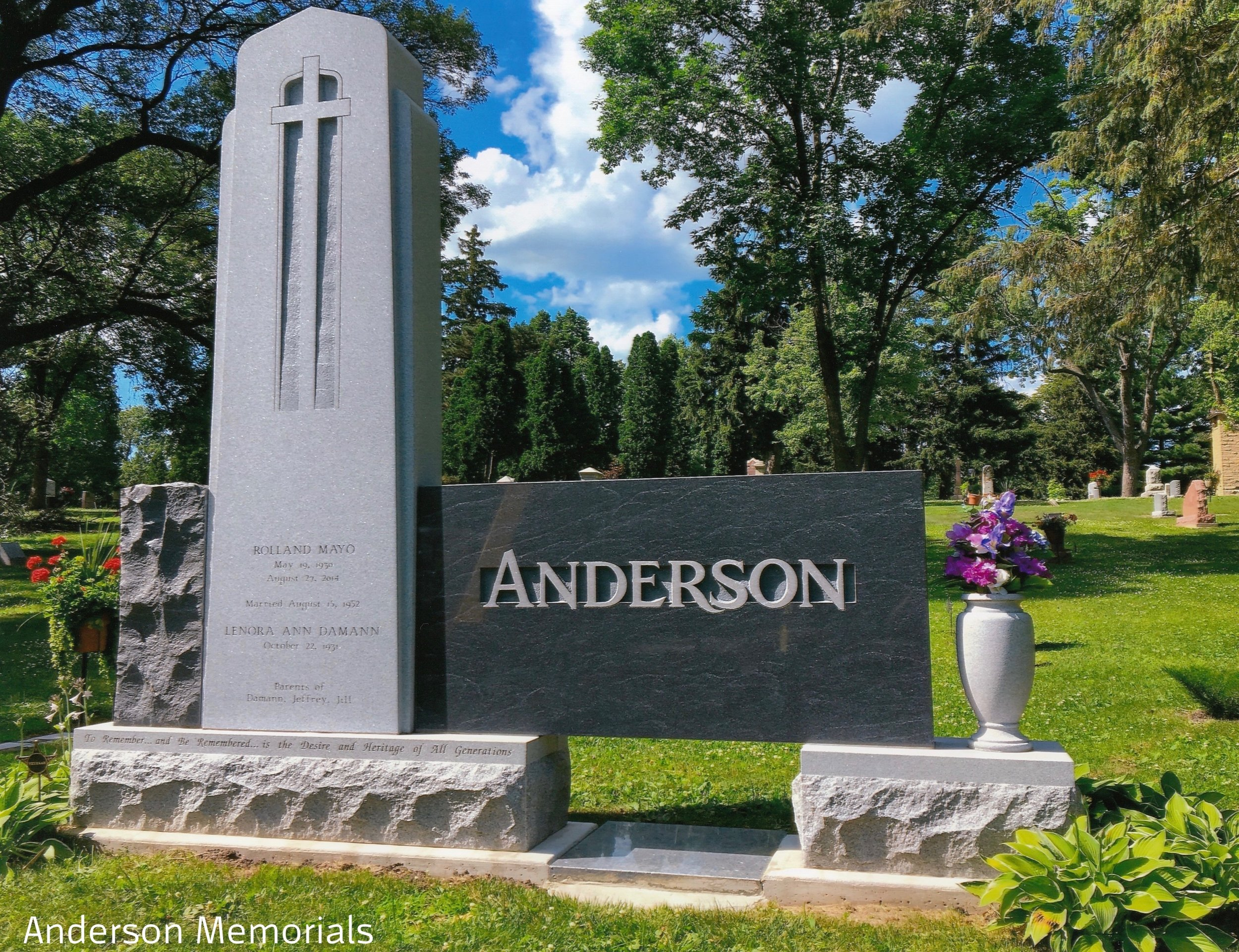"""1st Place Large Monuments """"Anderson"""", Anderson Memorials, Jeff Anderson, CM, AICA"""