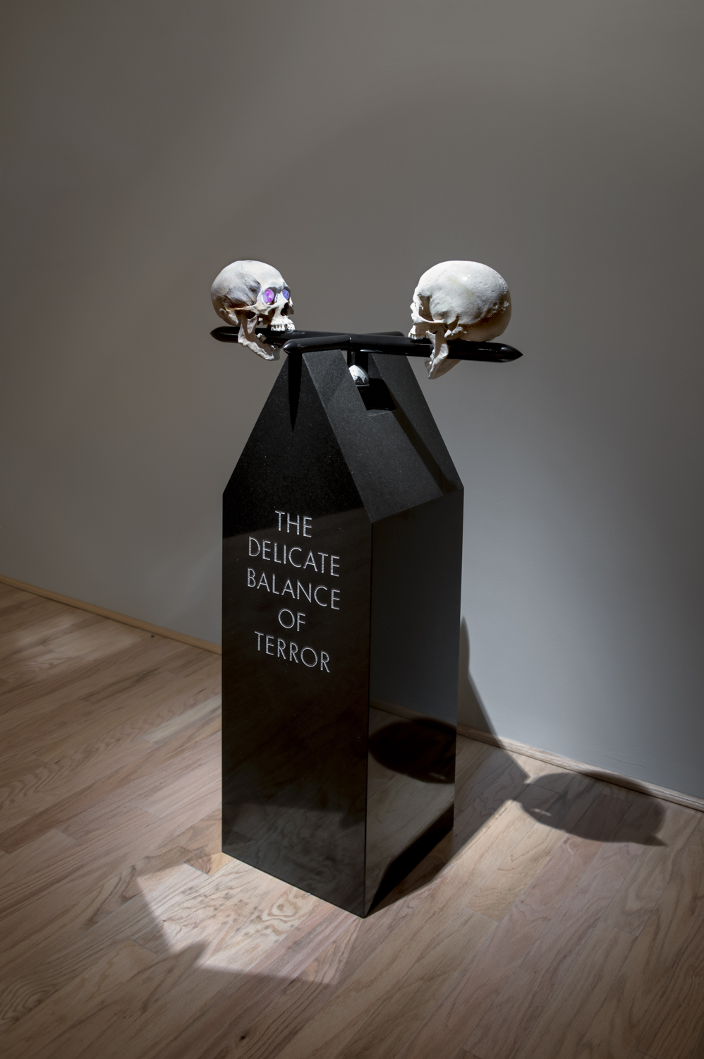 Granite, Black Powder Coated Aluminum, and Human Skulls                                                    50 x 31 x 14 in | 127 x 78.7 x 35.6 cm                                                                                                        2016