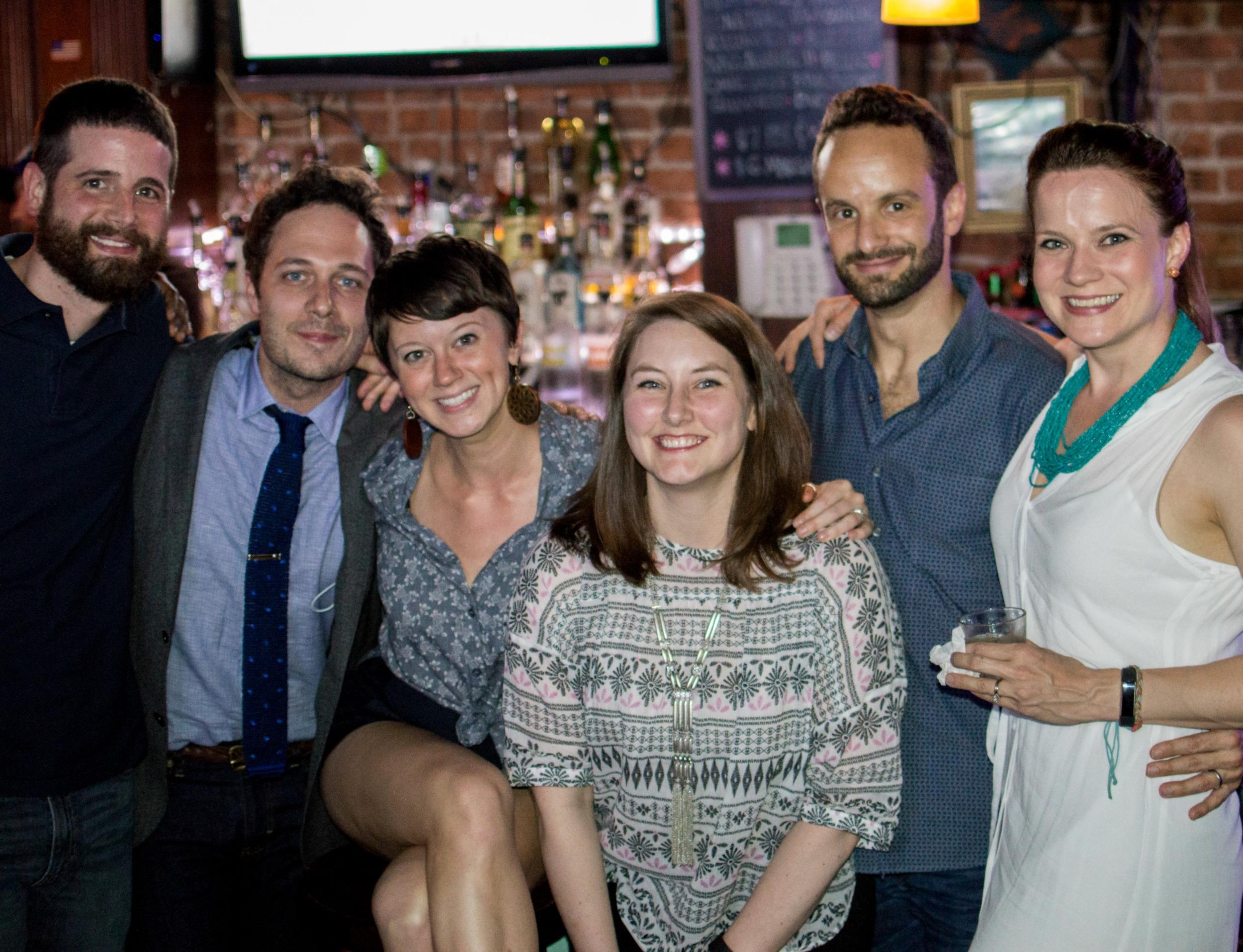 Aaron Mooney, Phil Pickens, Ashley Grombol, Erin Mooney, Nick Mills and Amelia McClain.