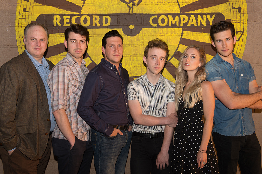 Promo photos of cast of Million Dollar Quartet at the New Stage Theatre
