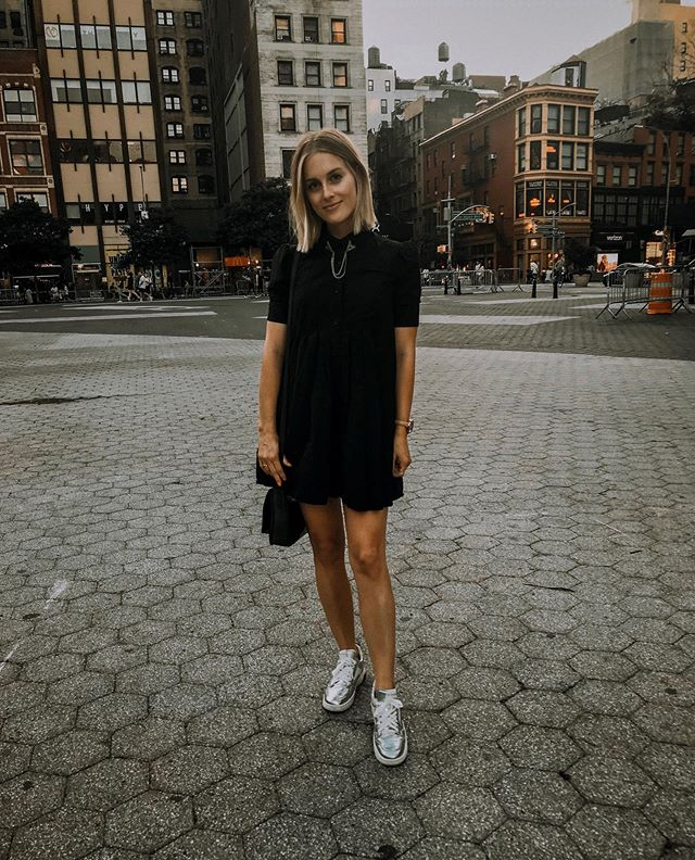 Thankful for collar pins + LBDs + Union Square. ✖️〰️ // @urbanoutfitters @asos @viaspiga