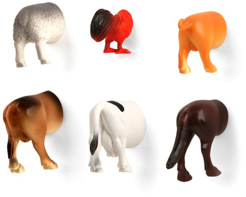 Farm Animal Butt Magnets - Really stick it to someone this year with these funny magnets! $11.68