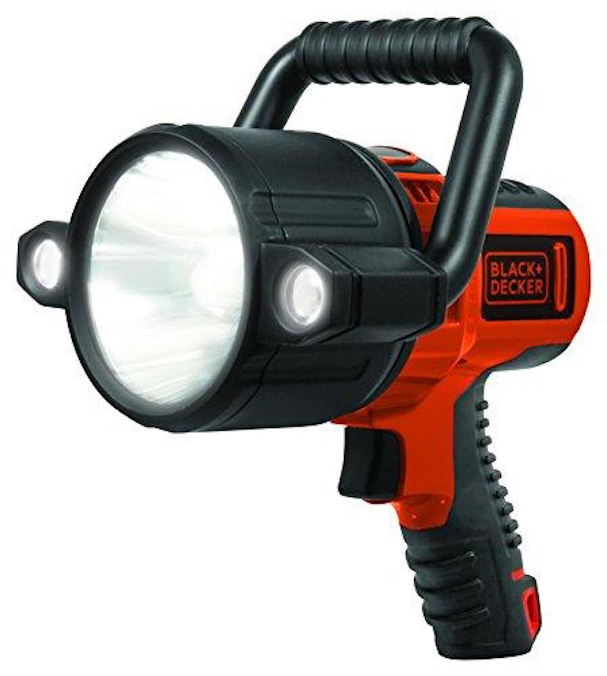 BLACK+DECKER SLV2B 10W LED Lithium Ion Rechargeable Spotlight - Don't get stuck out in the fields at night without this rechargeable spotlight. It delivers up to 750 lumens, has a run-time of about 7 hrs, and a rugged pistol grip for comfort. $39.88