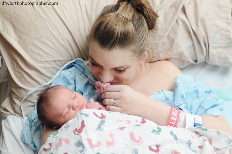 Me with Judy, the day after her birth. Photo courtesy of Lynsey Stone Photography.