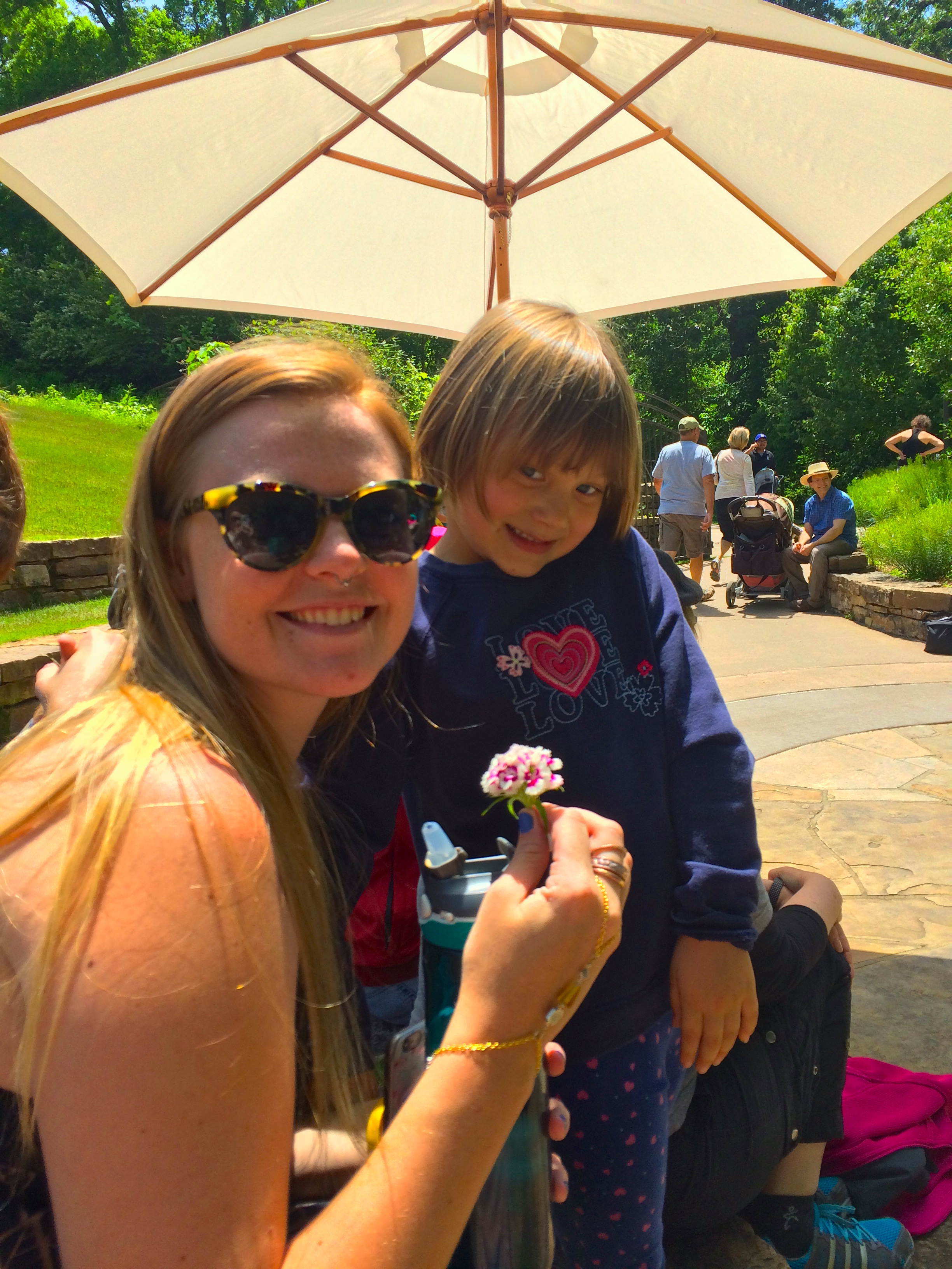 The sweet little lady who we met in Fayetteville, AR gifted Katie and Noah with lovely wildflowers.