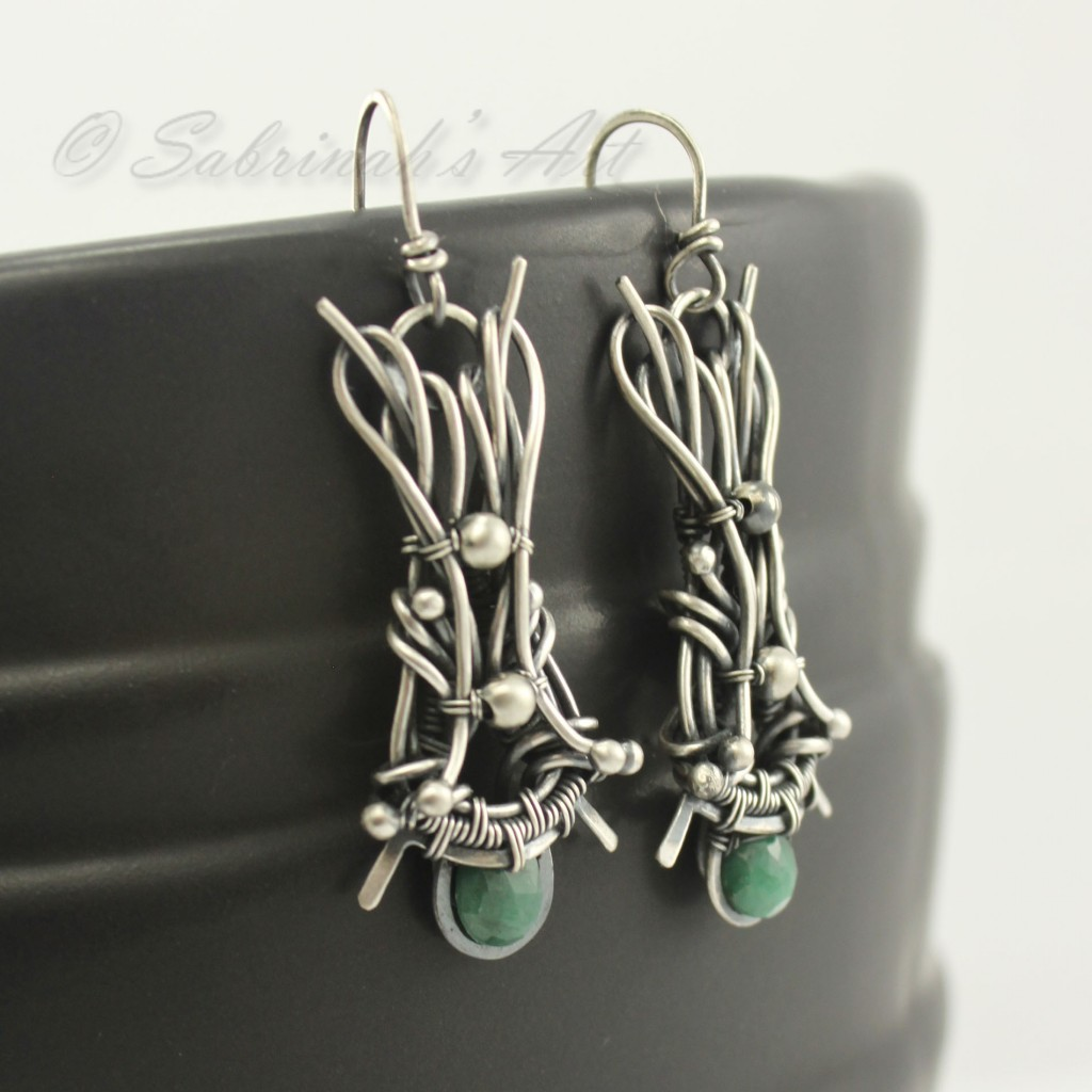 Sabrinah's Art, Emerald Earrings