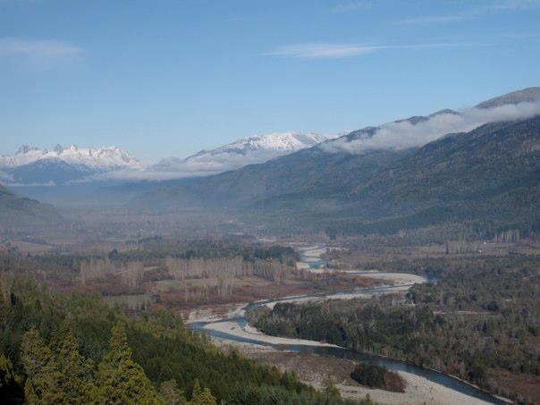 The valley of the Rio Azul near El Bolson, Patagonia, Argentina.