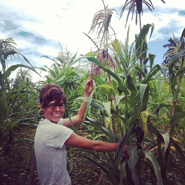Kayta in our first Floriani field in 2013