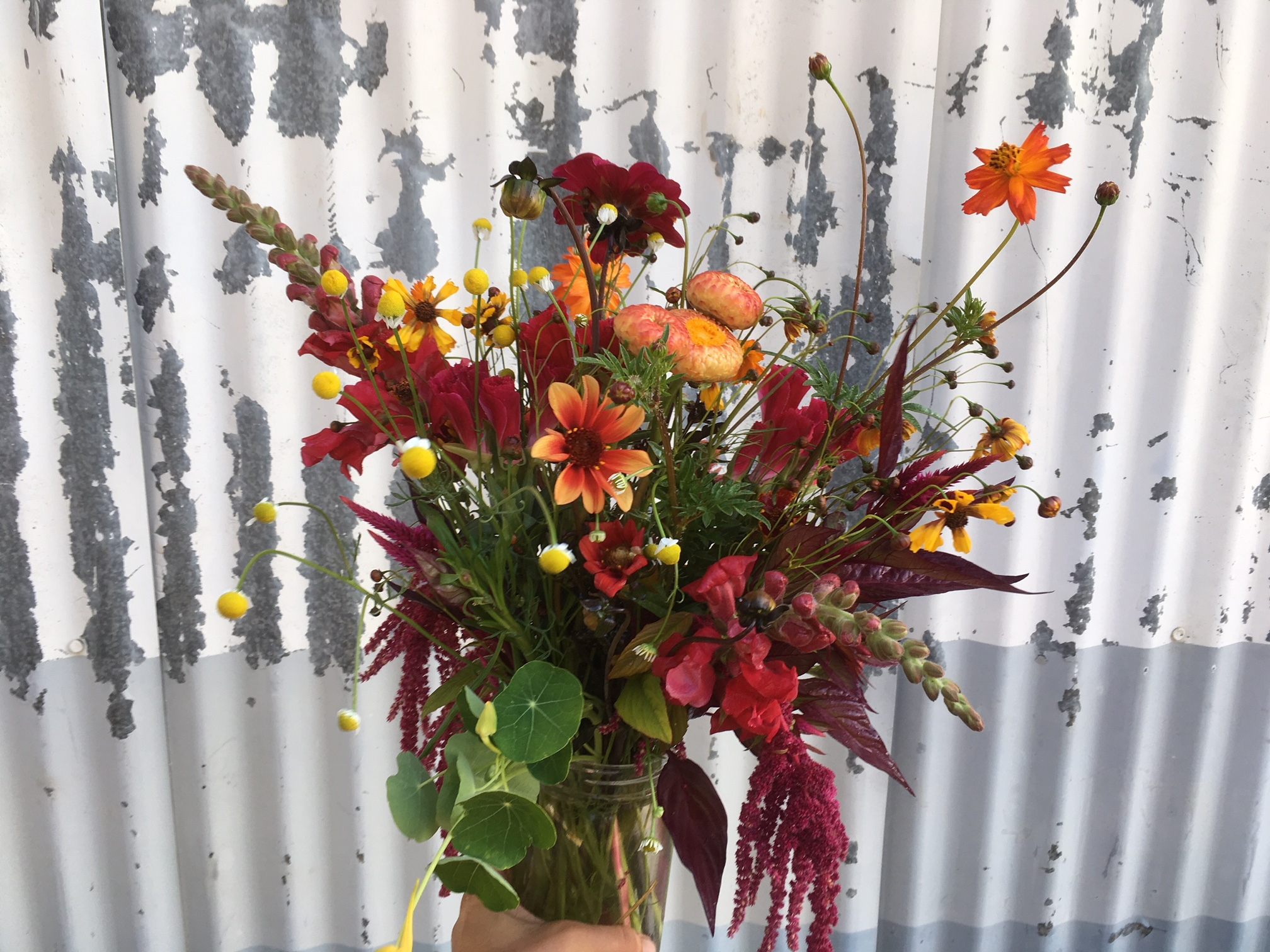 Kayta's study in red bouquet from last week