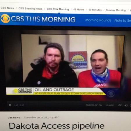 CBS in the morning // Interview from our media compound at Standing Rock