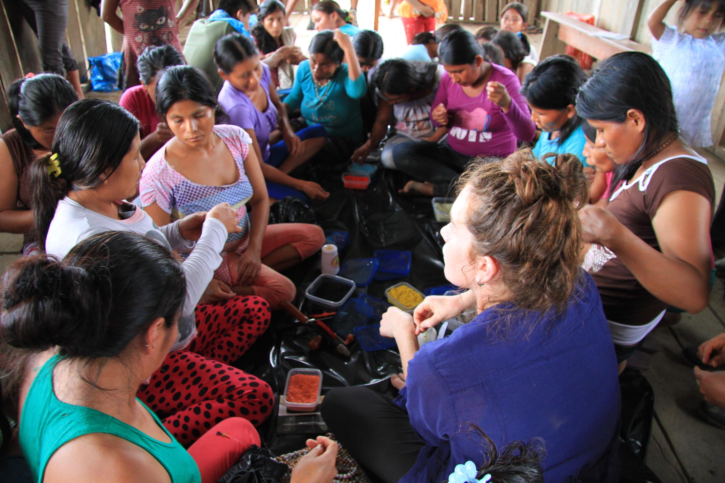 Design workshops with the Shuar community of Kandungos, Northern Peruvian Amazon.