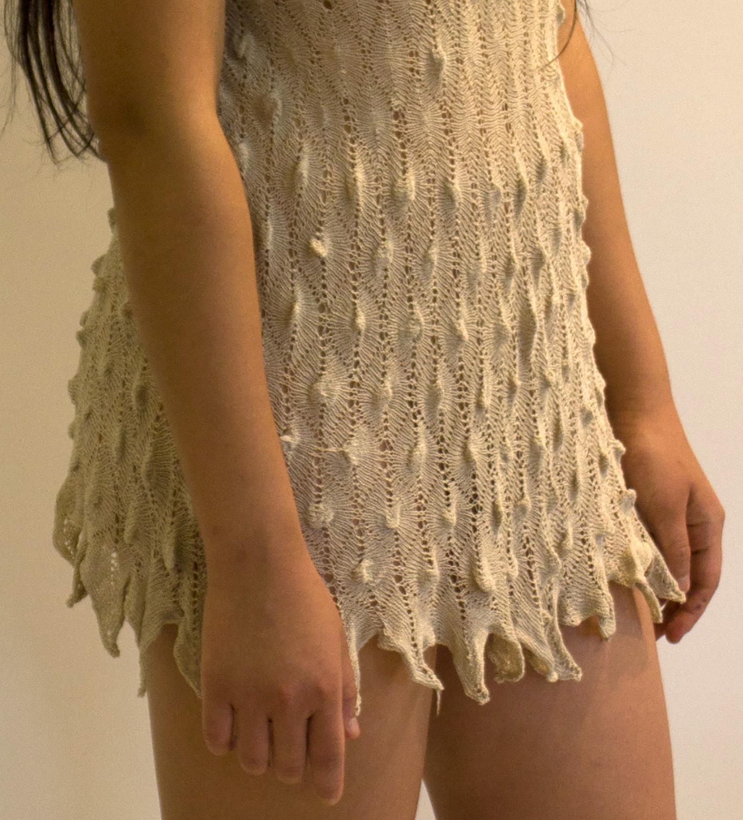 Knit snakeskin. Japanese linen.