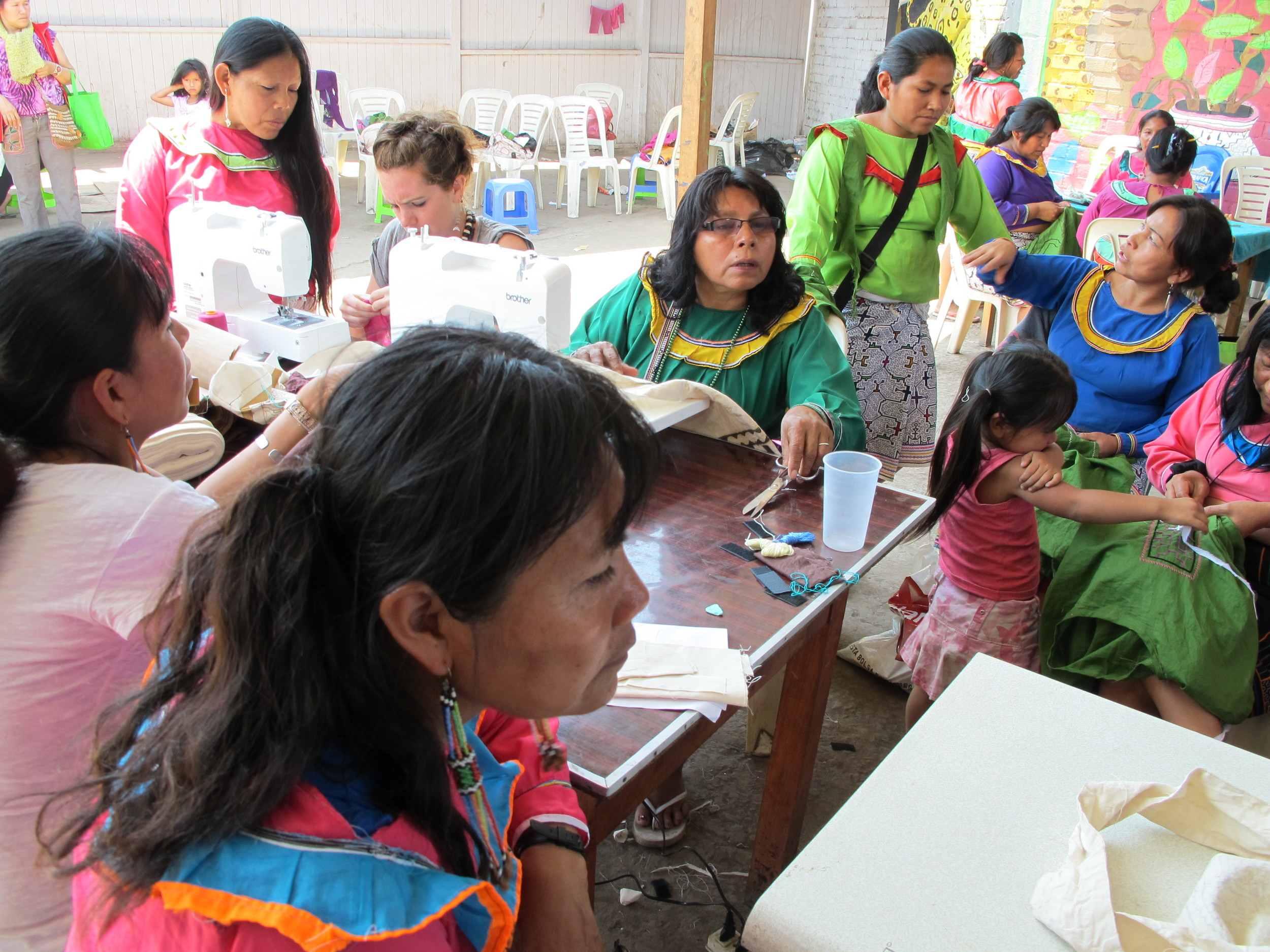 Sewing and Kené workshop with Las Madres Ashë, Shipibo-Conibo community of Cantagallo, Lima, Peru.