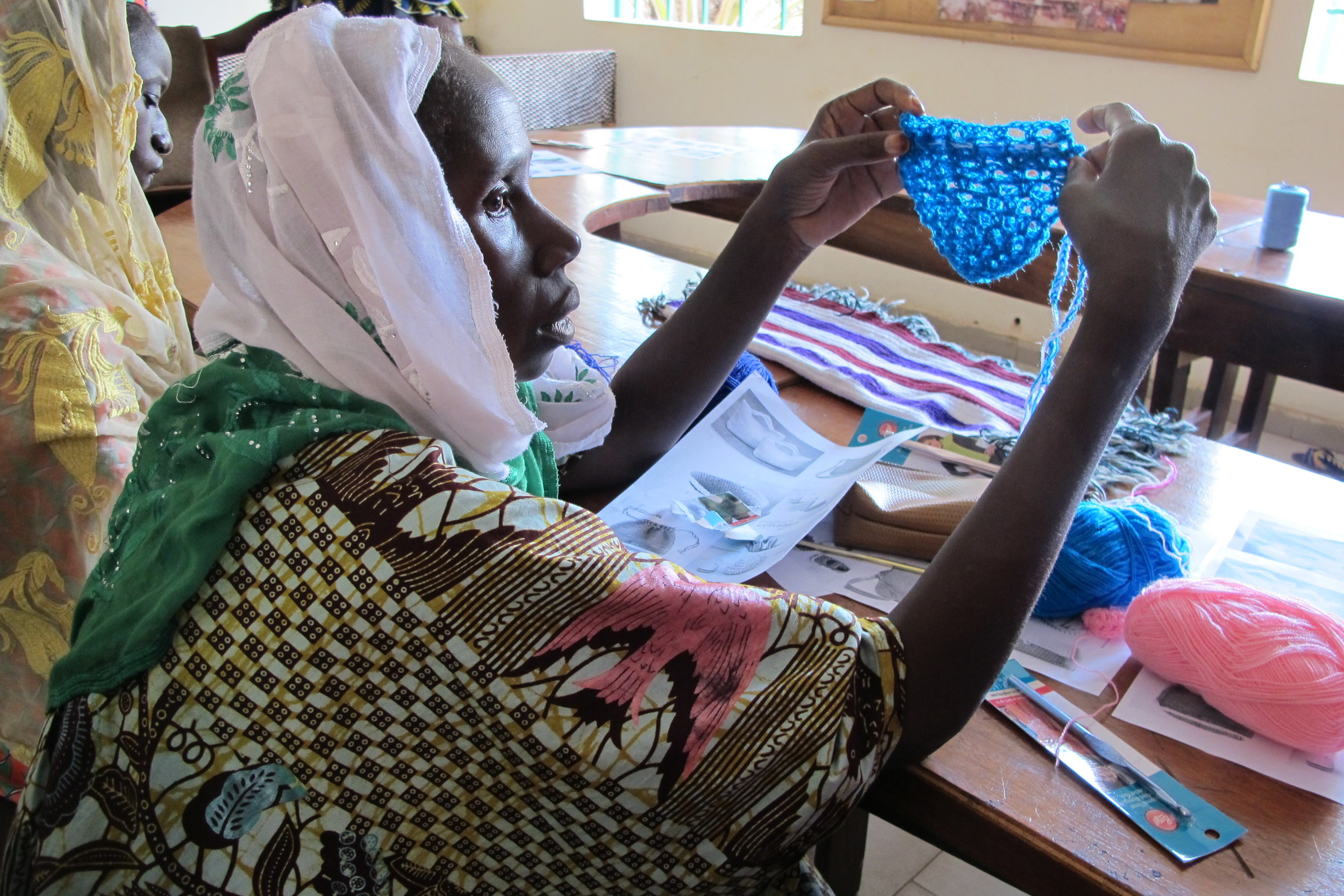 Crochet workshop in Sikoro, Bamako, Mali.