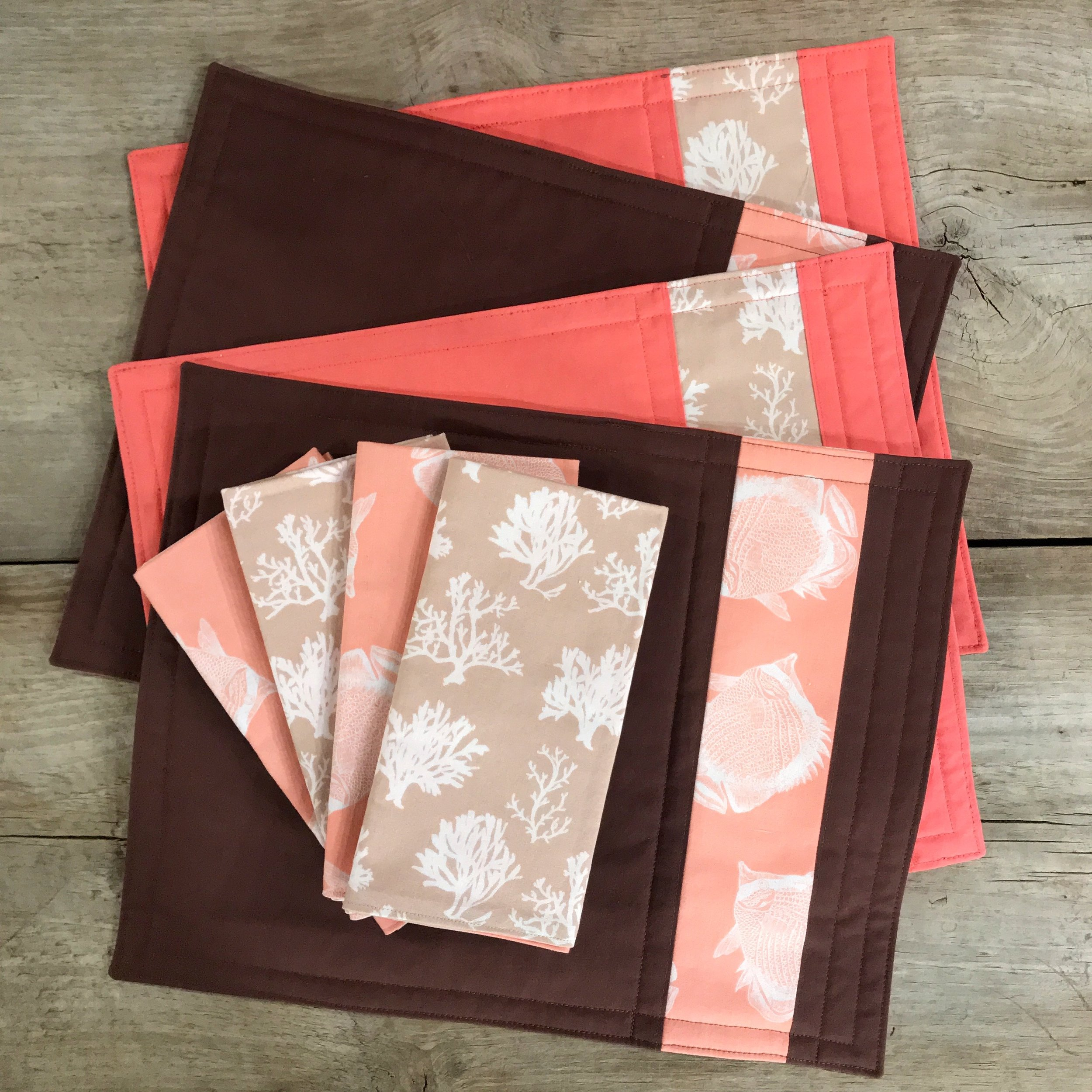 brown & coral napkins & placemats.jpg