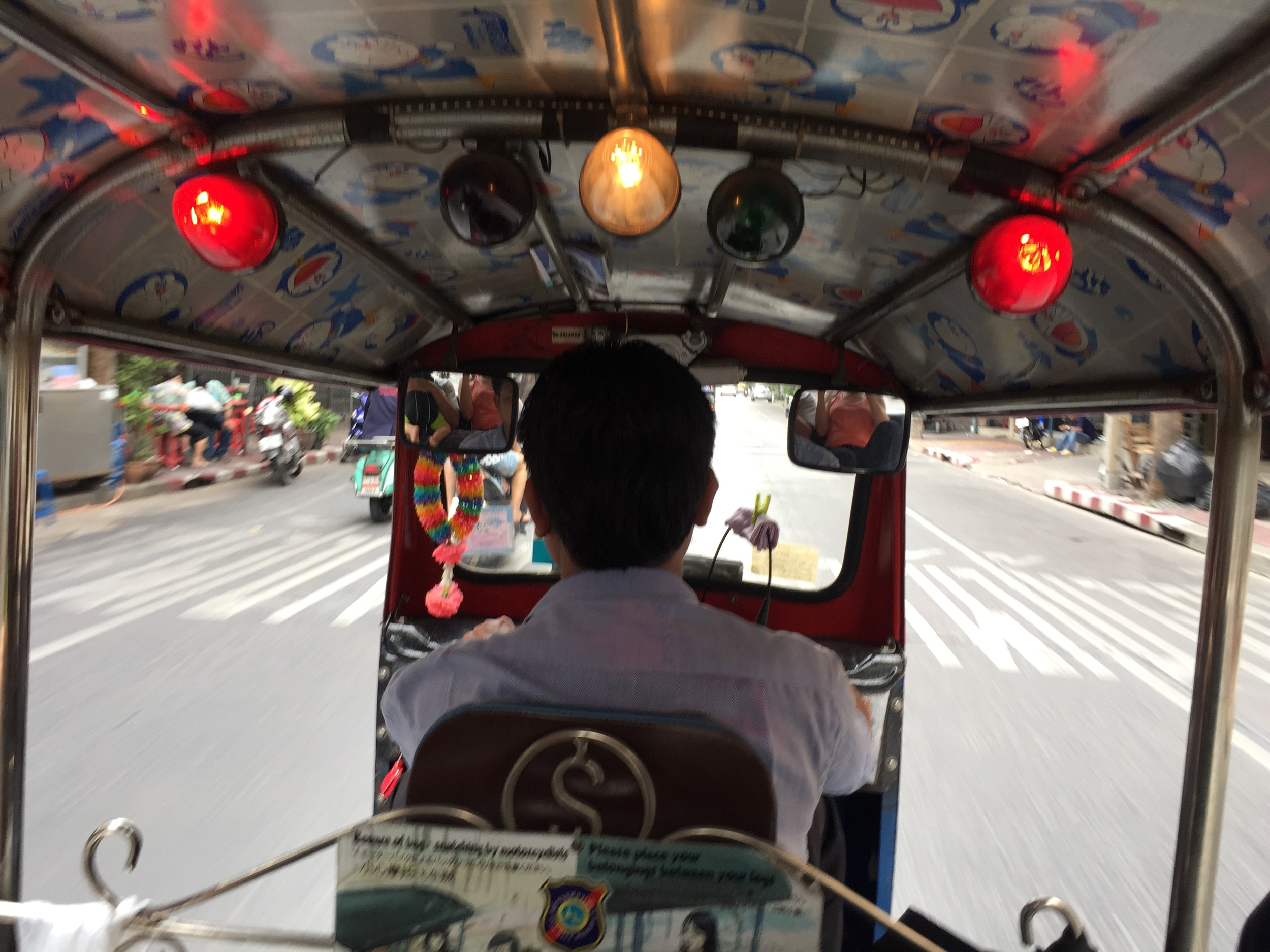 Our first Tuk Tuk ride with Antonio