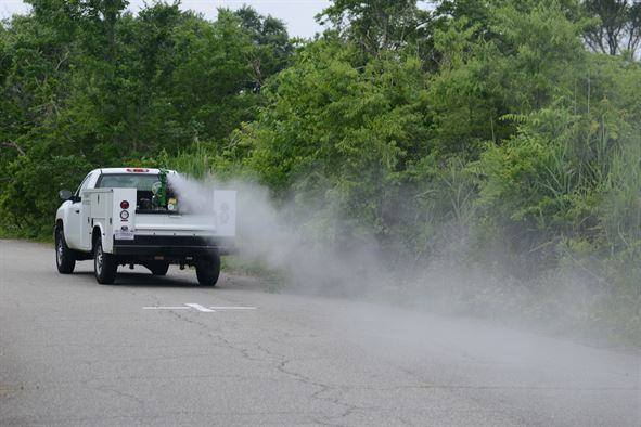 Truck Sprays Pesticides