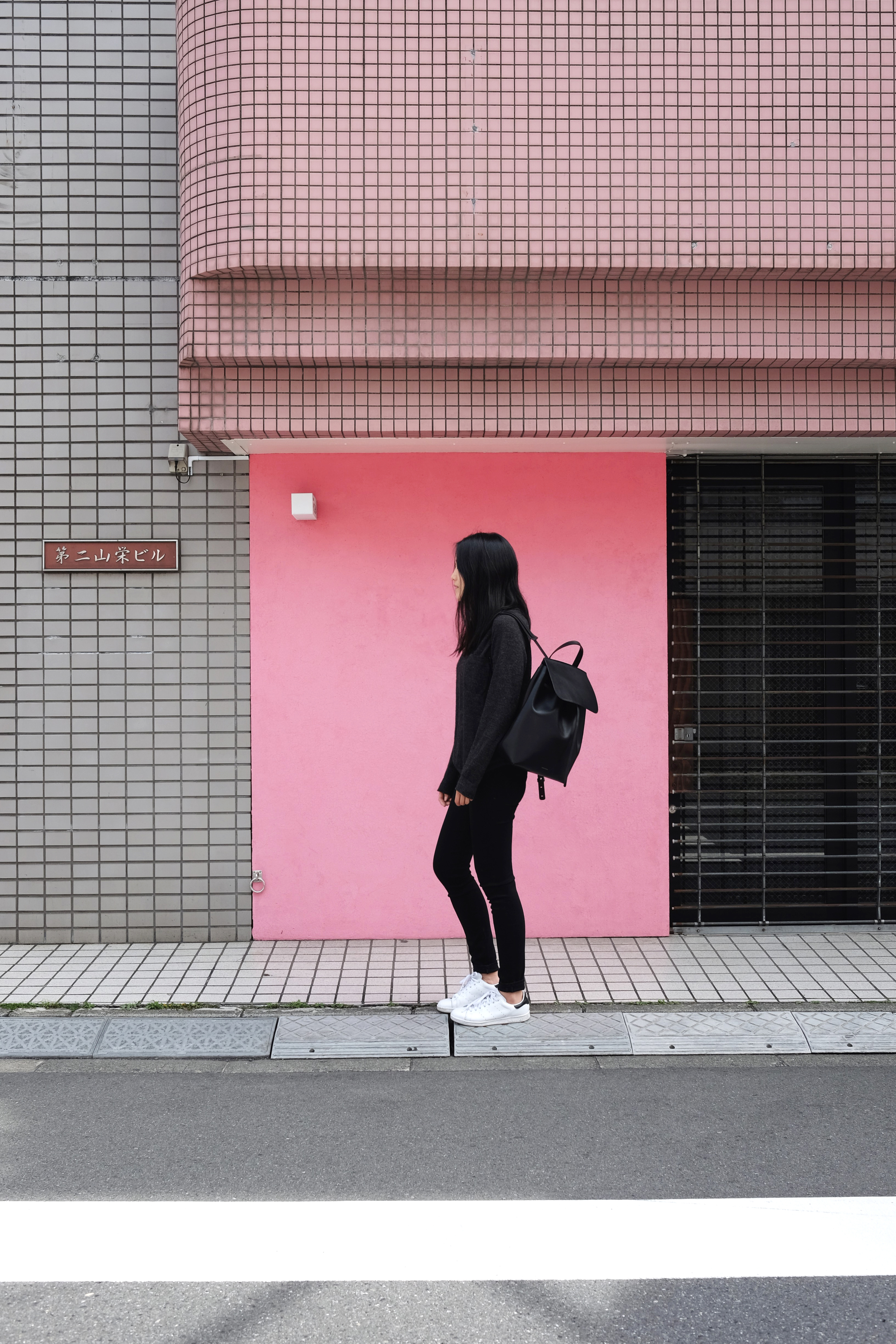 ZADY   Sweater  /ACNE STUDIOS   Jeans   / MANSUR GAVRIEL   Bagpack  (More  here  )  / ADIDAS   Sneakers