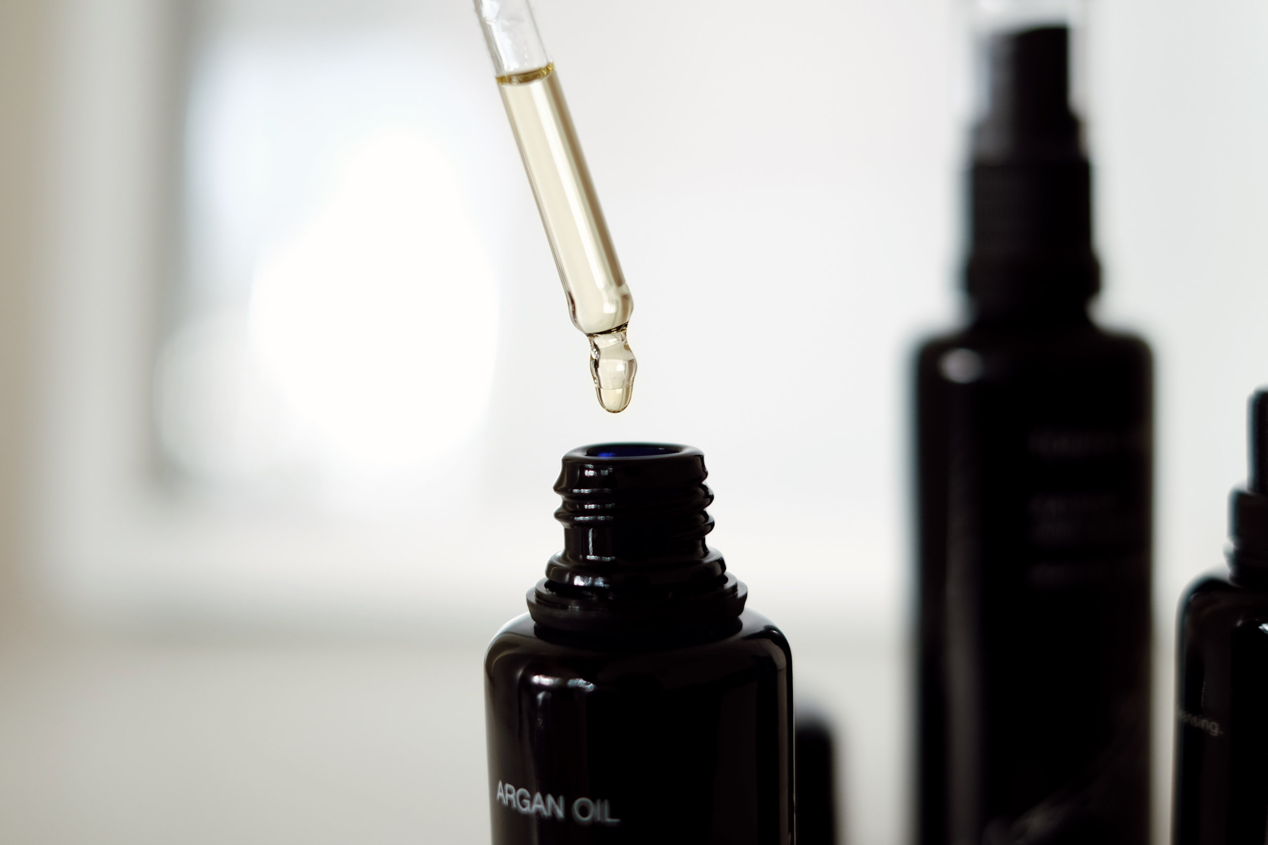 KAHINA GIVING BEAUTY    Argan Oil   (More   here  ) During the day I blend a few drops with my daily moisturizer for extra hydration and at night I usually wear it alone. It's also great for hair, cuticles/nails and lips.
