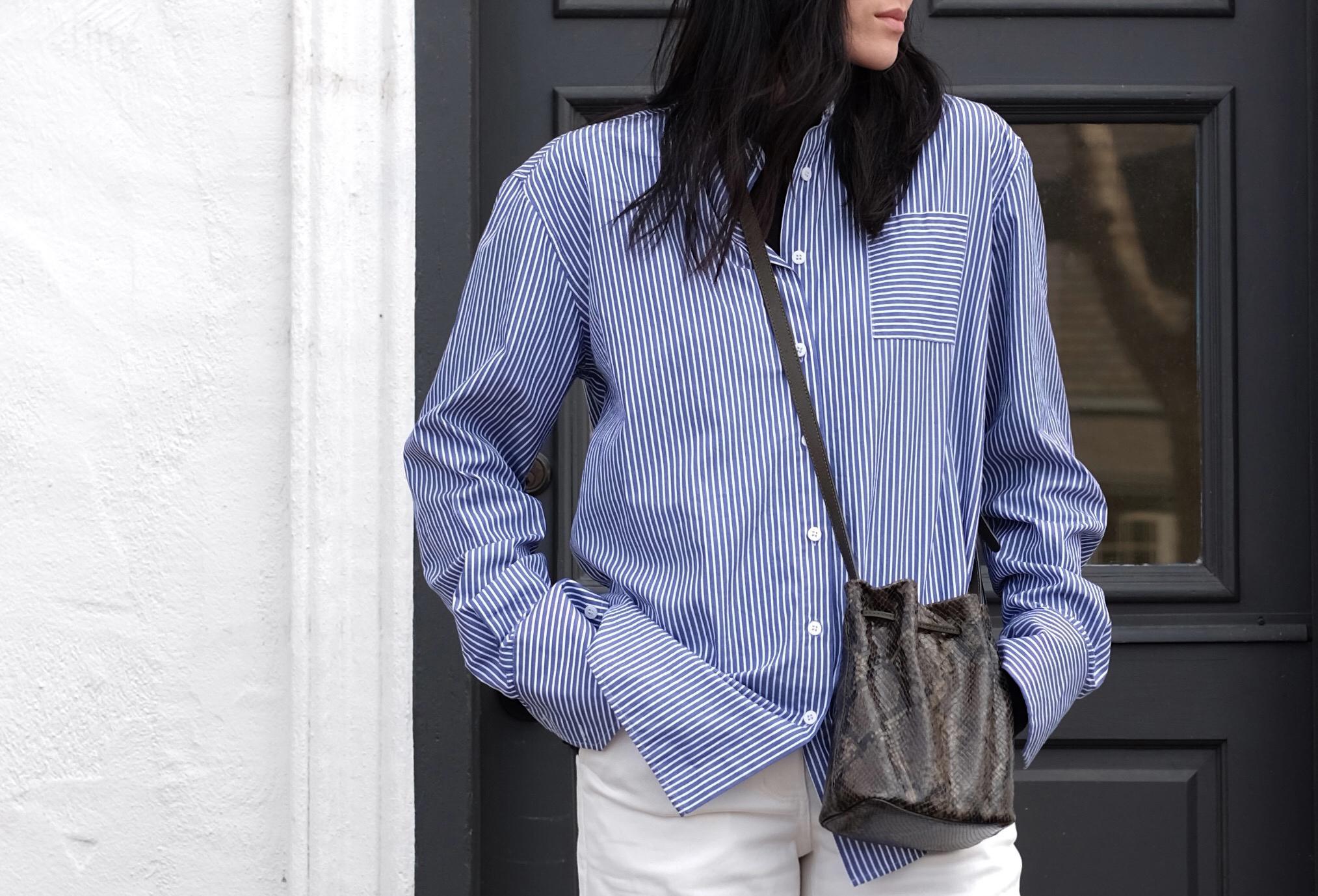 RIKA   Shirt   / ATP ATELIER   Bag  / EVERLANE   Pants