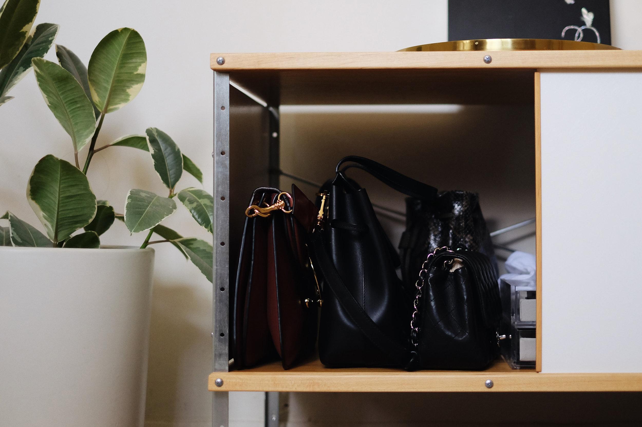 J.W.ANDERSON   Pierce Bag   / MANSUR GAVRIEL   Mini Lady Bag   / CHANEL Small Flap (  Similar here  )