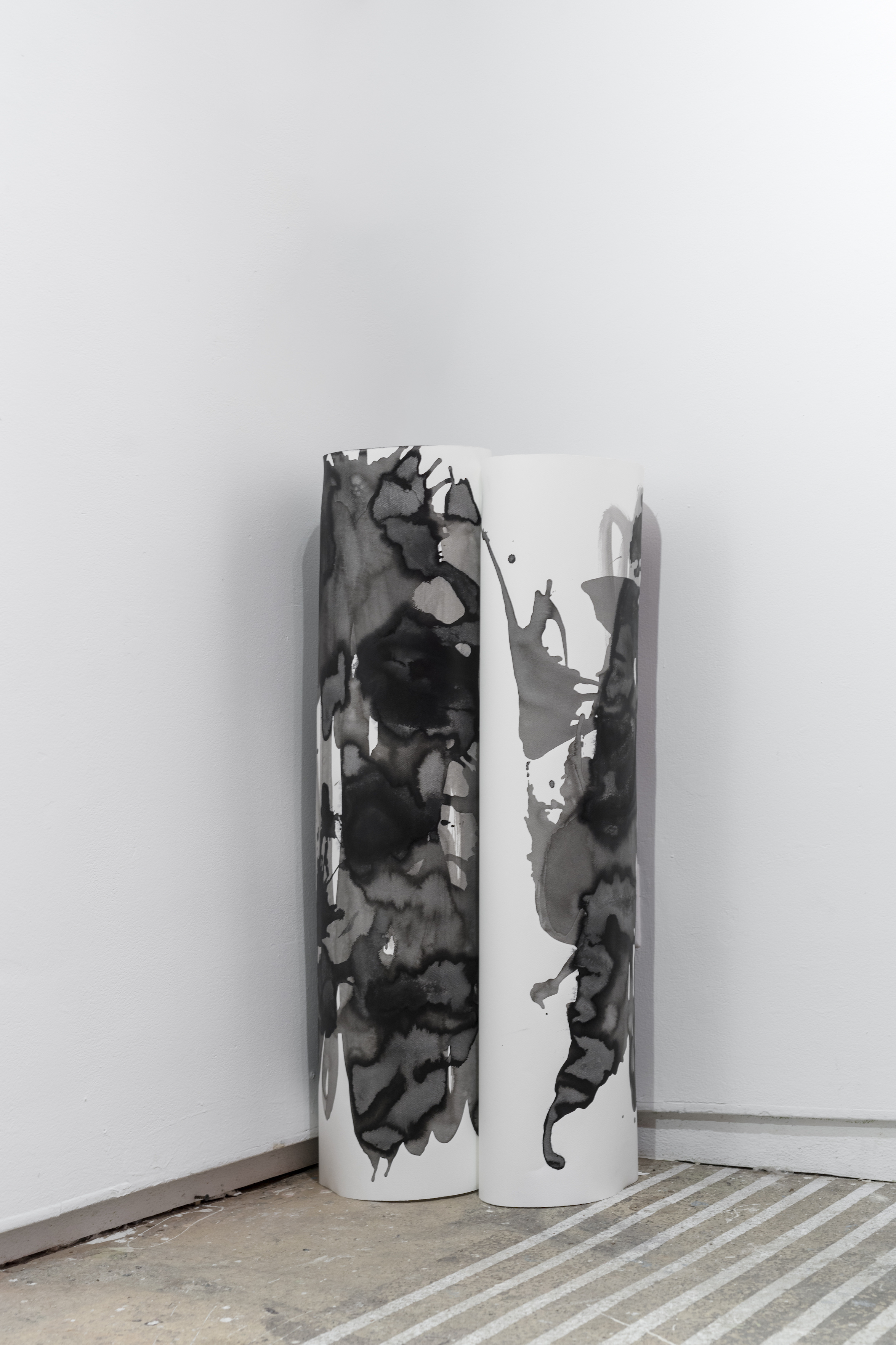 Margrethe Aanestad    Untitled,  2016   Ink on aquarelle paper   Object, dimensions variable