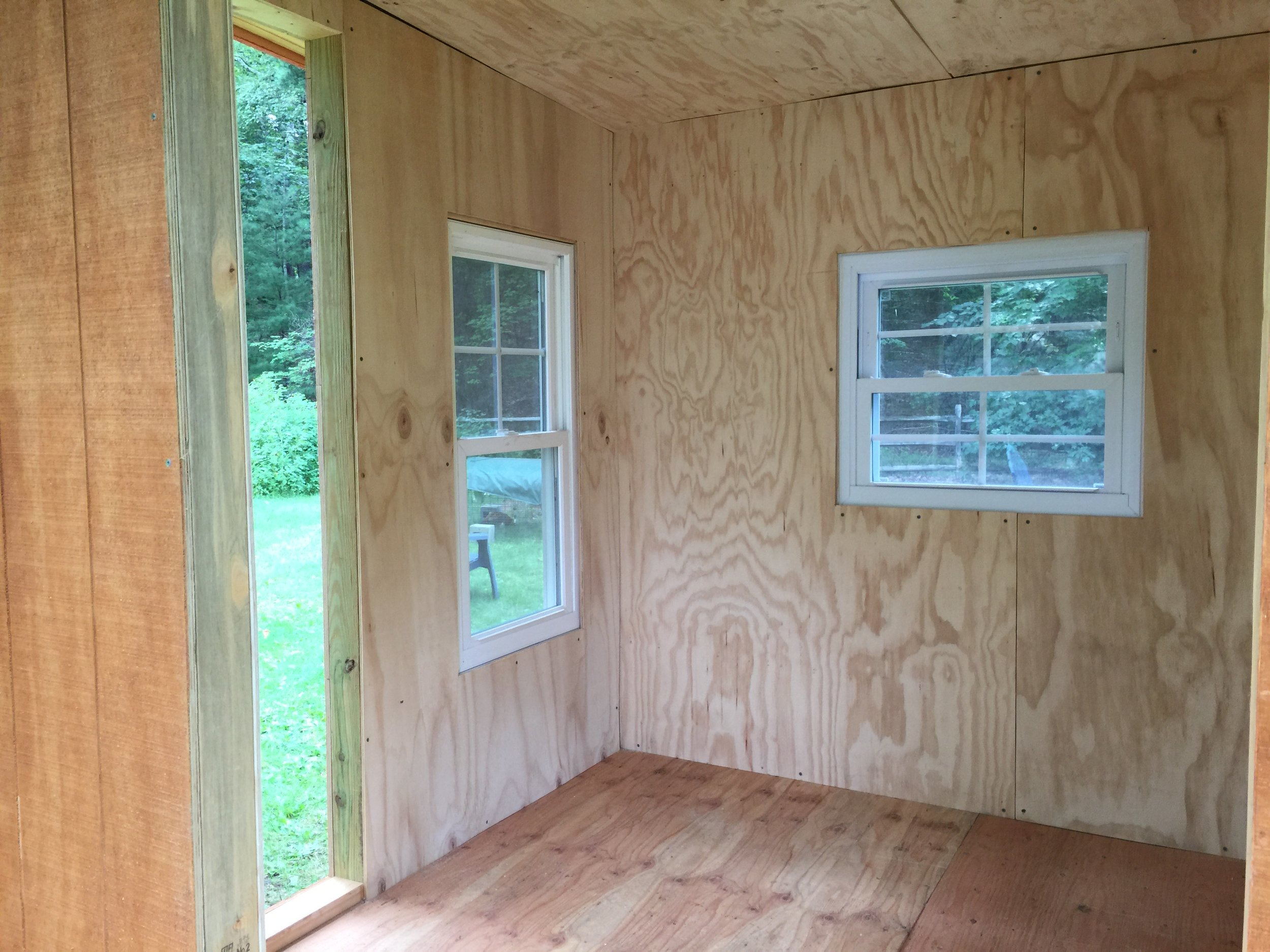 It is really beautiful - big windows on all sides, and insulated.
